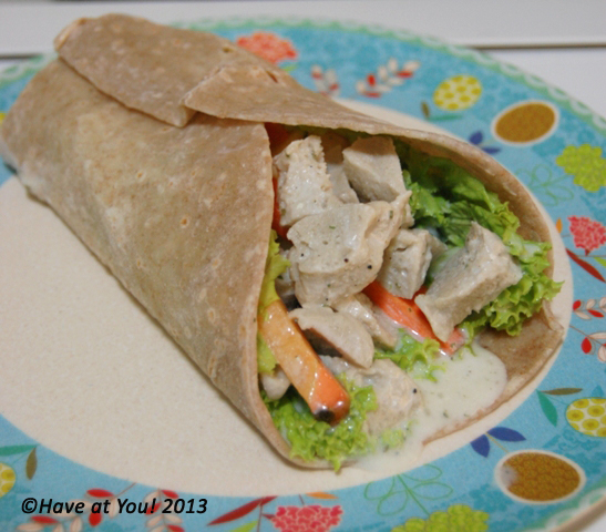 chicken slaw wrap