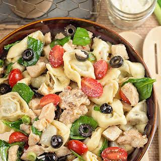 Chicken and Tortellini Pasta Salad.