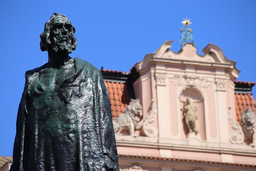 Praga, Pomnik reformatora religijnego Jana Husa