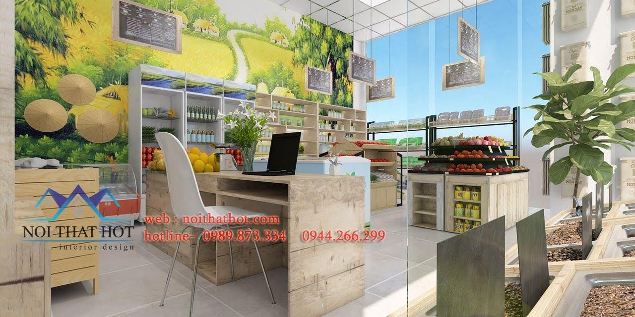 thiết kế cửa hàng hoa quả sạch 5