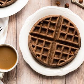 Gluten Free Chocolate Hazelnut Waffles