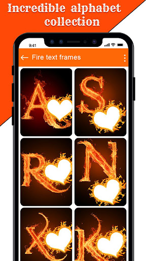 Image of Fire Text Photo Frame Editor - Fire Photo Editor 1.16 2