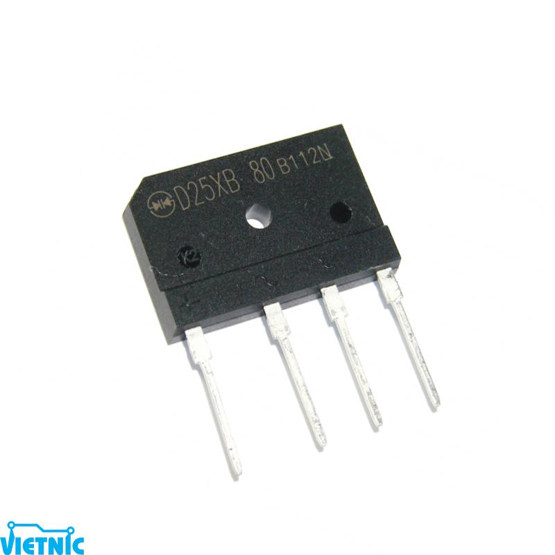 Diode chỉnh lưu cầu 25A D25xB80 D25xB60