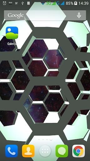 Space sphere live wallpaper