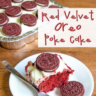 Oreo Red Velvet Poke Cake