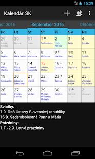 Kalendár SK - náhled