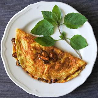 Thai Chili Mushroom Omelette Recipe