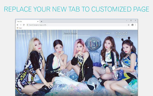 Kpop ITZY Backgrounds New Tab - freeaddon.com