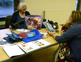 Photo: Members and visitors meet monthly in Wyaston Village Hall to work on any project and share interests