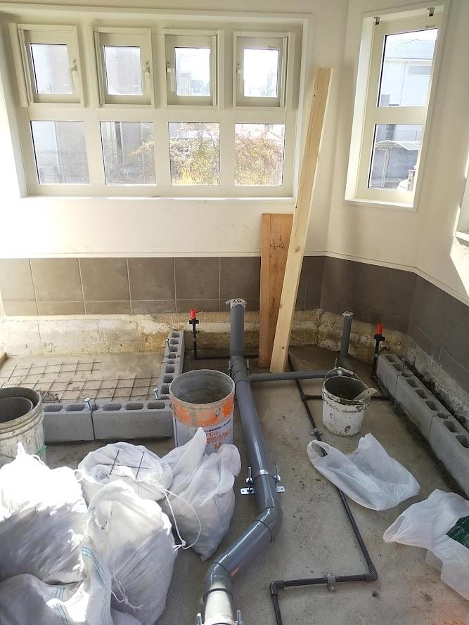 店舗トイレ用の配管