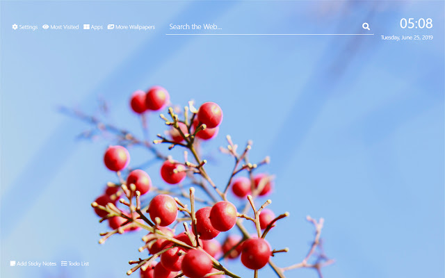Cherries Wallpaper HD New Tab Theme