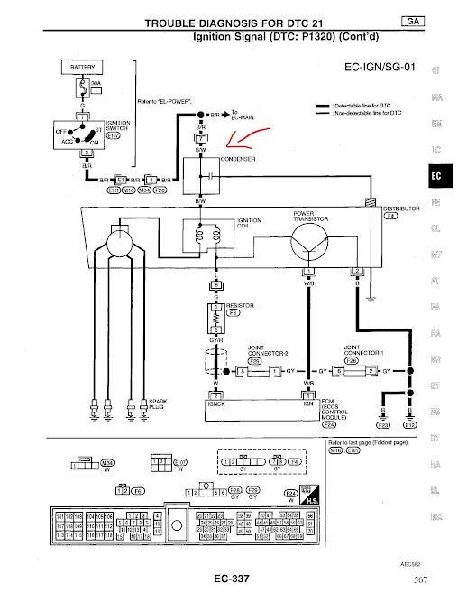 1997 nissan 200sx wiring diagram ignition condenser  nissan forum  ignition condenser  nissan forum