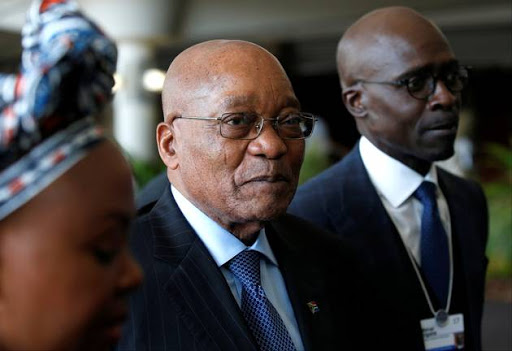 President Jacob Zuma with Finance Minister Malusi Gigaba at the World Economic Forum on Africa meeting in Durban. File photo: REUTERS