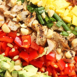 Caribbean Cobb Salad with Fire-Roasted Pineapple Vinaigrette.