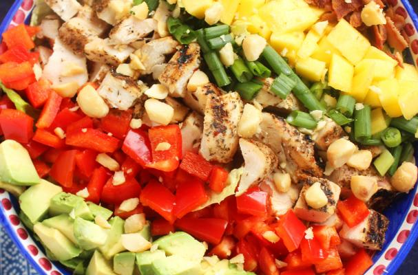 Caribbean Cobb Salad with Fire-Roasted Pineapple Vinaigrette Recipe