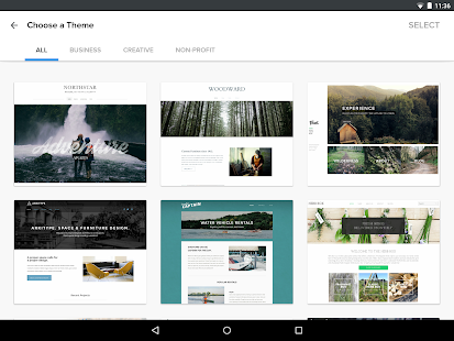 Weebly - screenshot thumbnail