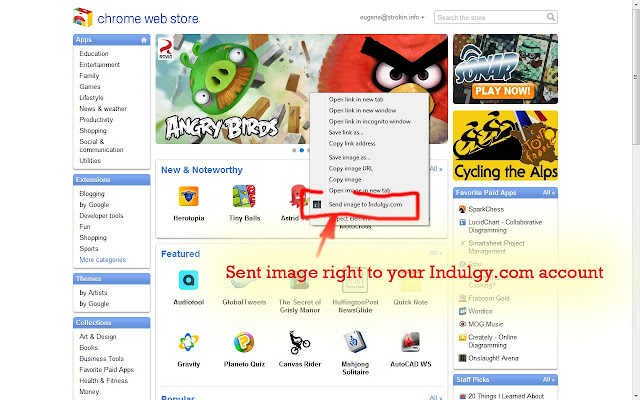 Collect images on Indulgy.com