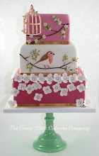 Photo: EDITOR'S CHOICE 2/8/2012  Bird and Blossoms Wedding Cake by The Clever Little Cupcake Company  View cake details here: http://cakesdecor.com/cakes/6666 View all cakes by The Clever Little Cupcake: http://cakesdecor.com/CleverLittleCupcake/cakes
