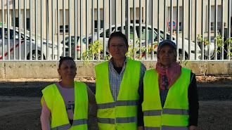 De izquierda a derecha: Encarni, Mª Francisca y Ghane.