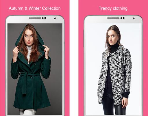 女性の冬の服のスタイル
