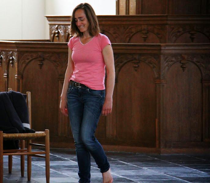 Photo: Verbeelding van Hooglied 1 ('Je bent heerlijk!') in de kerkdienst van 19 april 2015 (Grote of Barbarakerk). Regie: Kees van der Zwaard. Foto's: Dik Hooijer.