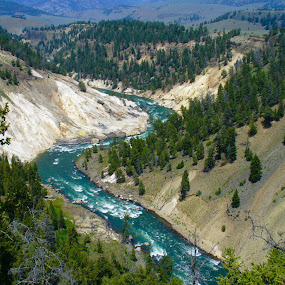 Yellowstone River  by Bryan Gruber - Landscapes Waterscapes
