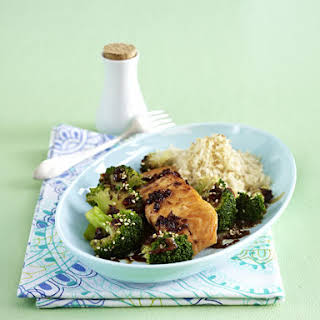 Sesame Soy Salmon with Broccoli.