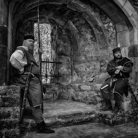 The Sentinels by Marco Bertamé - Black & White Portraits & People ( sentinel, man, two )