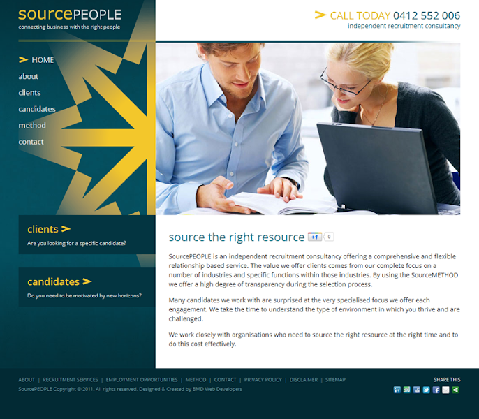 Photo: A new addition to our portfolio! SourcePeople; an independent recruitment consultancy offering a comprehensive and flexible relationship based service.