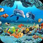 pescado vivir papel pintado 3D acuario fondo hd icon