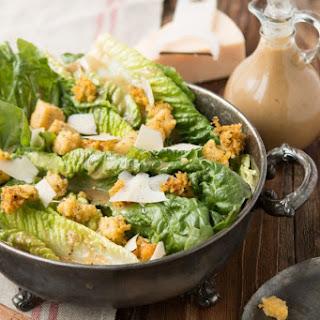 Caesar Salad with Polenta Croutons