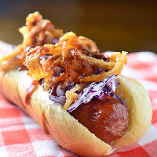 Loaded BBQ Hot Dogs