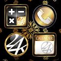 アイコンきせかえ-24karats ペイズリー壁紙付き! icon