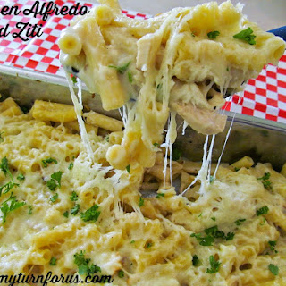 Baked pastas are just the bomb!! Easy to throw together ahead of time and then pop them in the oven for an quick dinner!! This Alfredo sauce has an amazing flavor, and well worth making it from scratch.
