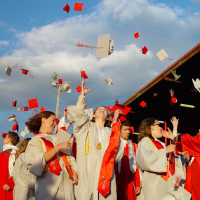 We're Done! by Kati Garner - People High School Seniors ( school, seniors, graduation )