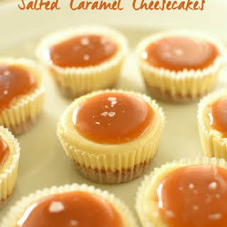 Salted Caramel Cheesecakes.