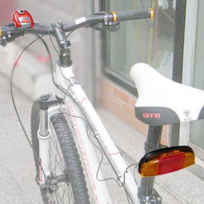 clignotant feu stop pour vélo avec signal sonore