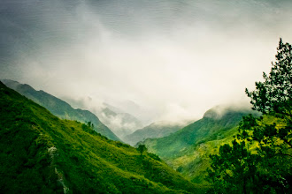 Photo: cloudy green valley, Madeira,Portugal