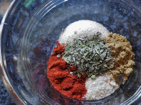Add 1 tsp of each spice in a small bowl. (Keep out 1/4 tsp...