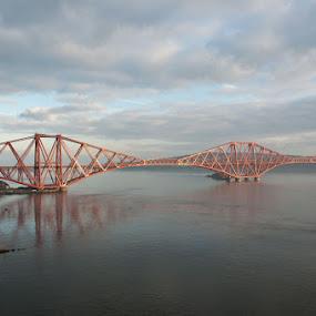 Forth Rail Bridge by Mark Denham - Landscapes Travel ( river forth, scotland, edinburgh, rail bridge, forth rail bridge )