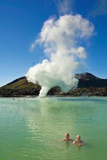 Lindblad-Expeditions-Iceland-Blue-Lagoon.jpg - Jump in the soothing, sparkling waters of the Blue Lagoon Geothermal Spa while taking a Lindblad Expeditions tour of Iceland.