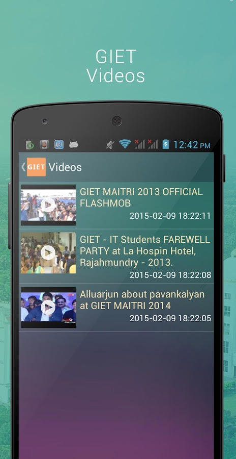 GIET Rajahmundry- screenshot