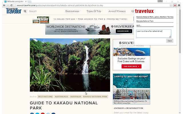 Travelux - save links for travel