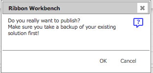 RibbonWorkbench使用前はバックアップを推奨