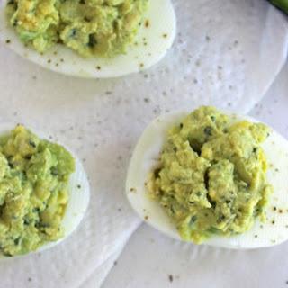 Avocado Deviled Eggs.
