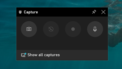 """To open your screen recording, click on """"Show all captures"""" located below the title of your active window"""