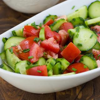 Marinated Cucumber Tomato Salad {Gluten-Free, Dairy-Free}