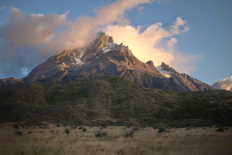 Photo: Sunset at Paine Grande Refugio