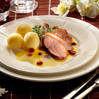Entenbrustfilet mit Orangen-Cranberry-Sauce