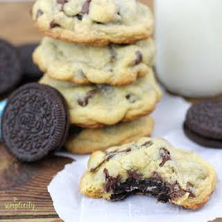 Oreo Stuffed Chocolate Chip Cookies.